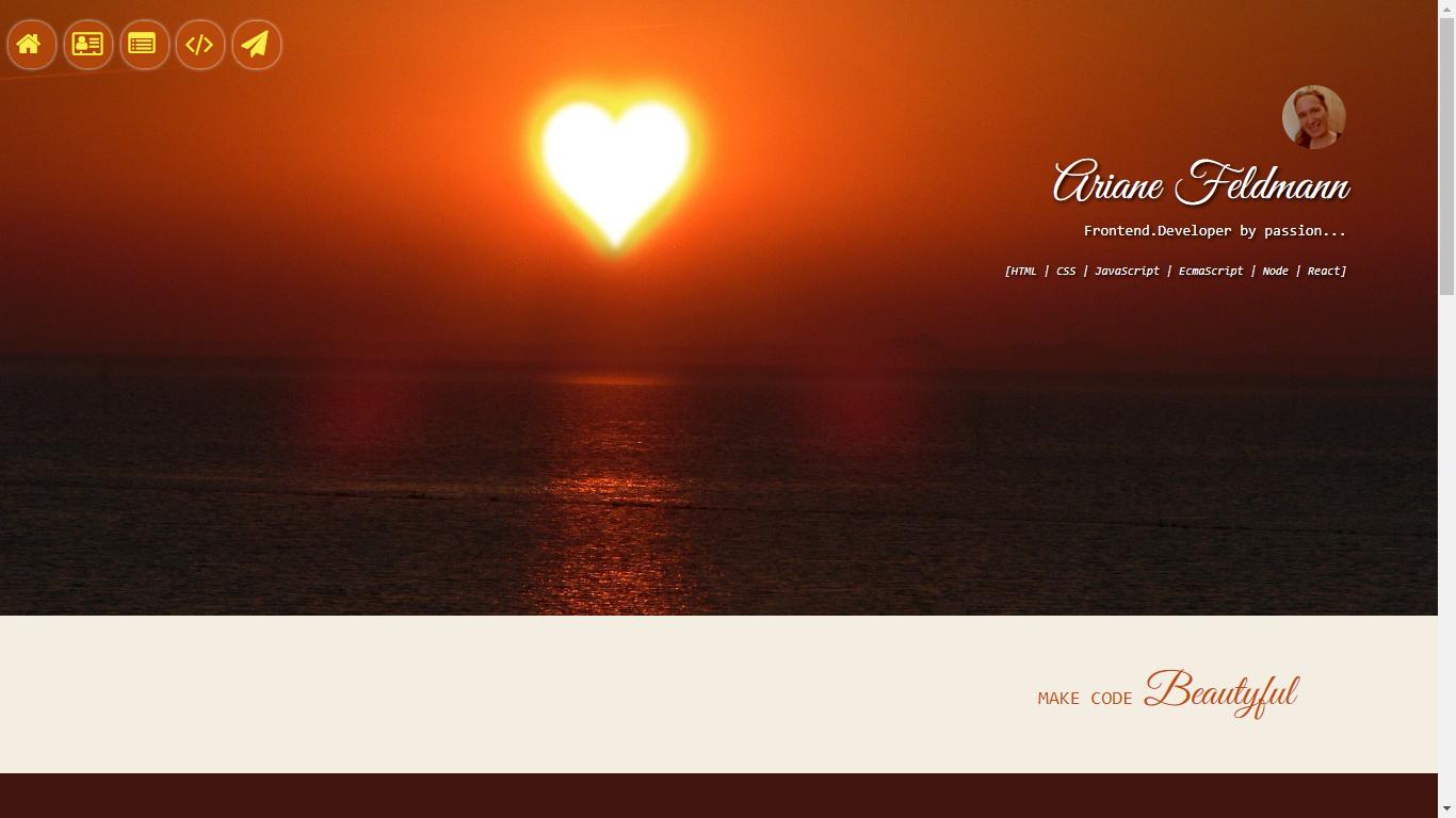 Ariane Feldmann - Frontend Developer by passion